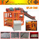 Shengya german tenology QTJ4-26C semi automatically concrete clay block making machines small scale industries China product