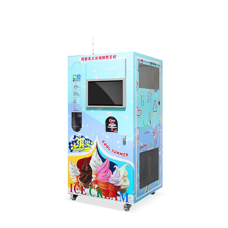 china manufacturing portable commercial soft ice cream vending machine