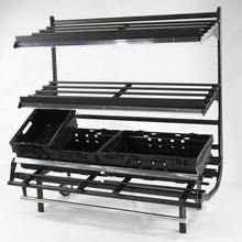 3 Layer  Retail Store Fruit And Vegetable Shelf Display Stand