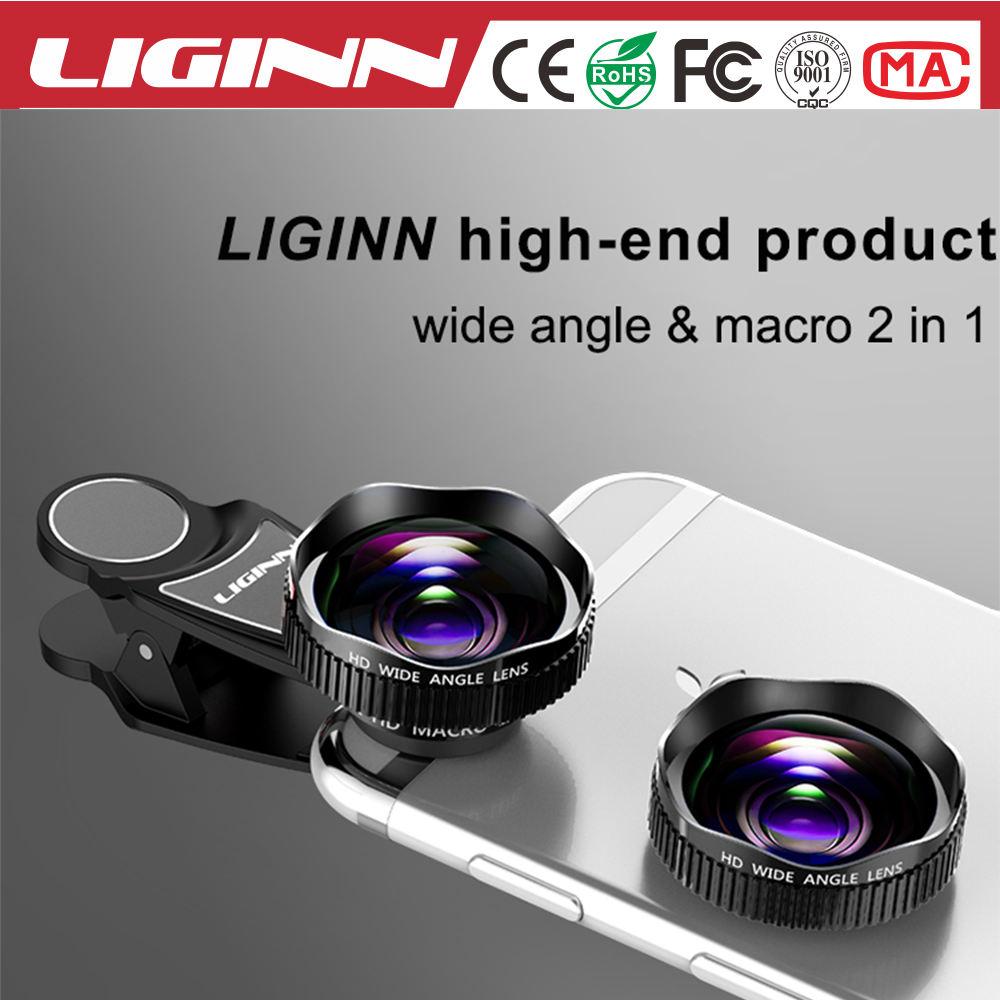 LIGINN preço de fábrica grande angular + kit lente macro para o telefone móvel 20x