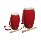 Chinese traditional red festival waist drum