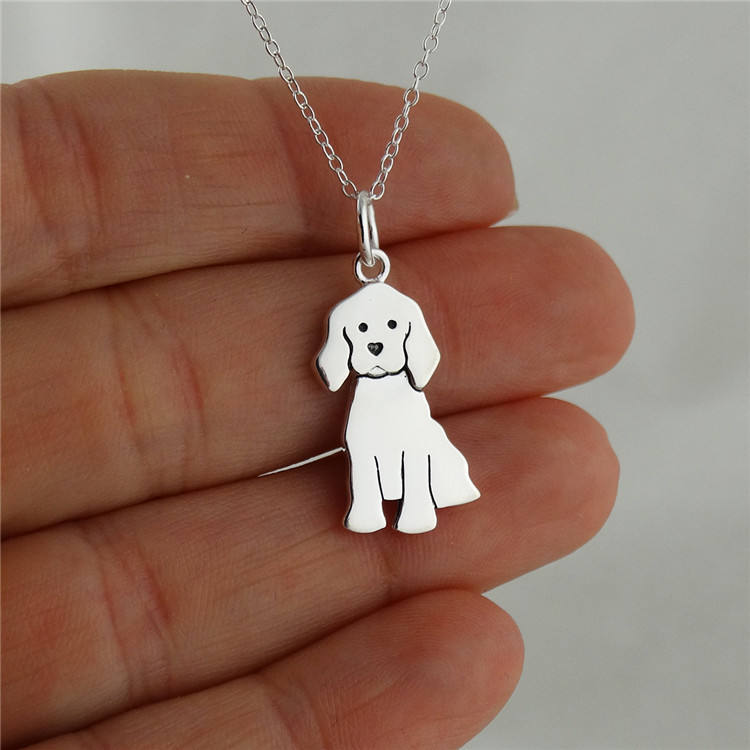 925 sterling silver labrador retriever dog pendant necklace