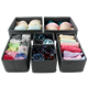 oem non woven fabric foldable cardboard clothing decorative underwear drawer organizer