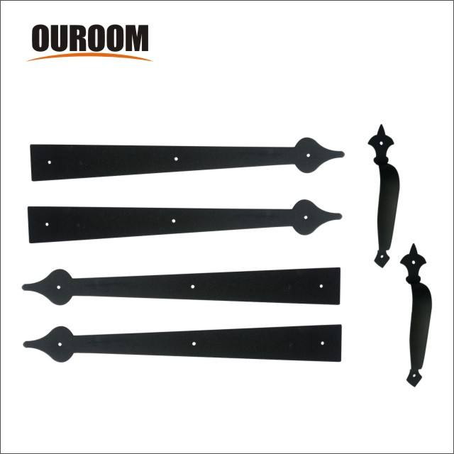 Ouroom/OEM Wholesale Products Customizable Decorative Garage Door Accents Magnetic Handle Hinge Carriage House Hardware Kit