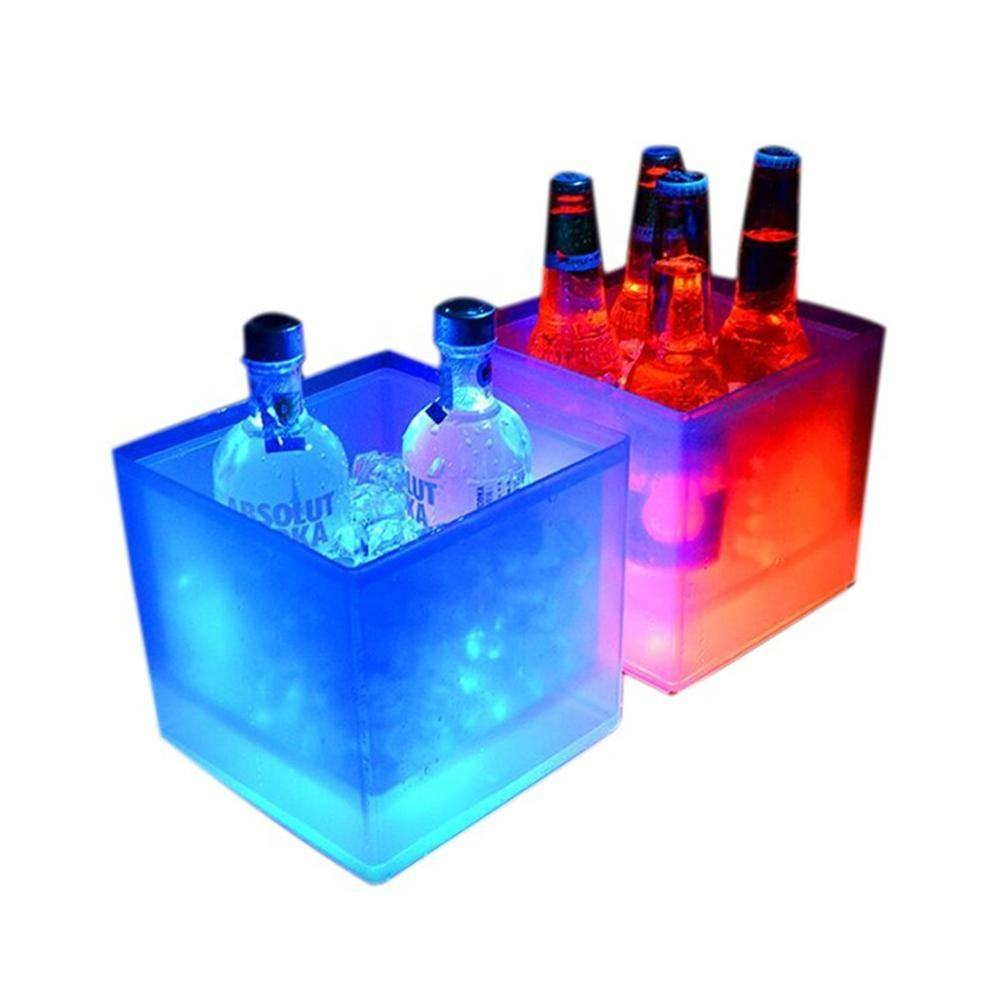 Illuminated Colour Changing Plastic Led Beer Ice Bucket