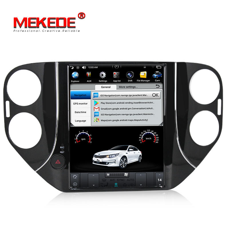 MEKEDE New Arrival!Tesla screen PX3 Android 7.1 Quad Core para auto car player for VW Tiguan( 2010-2016) with 2G RAM +32G ROM