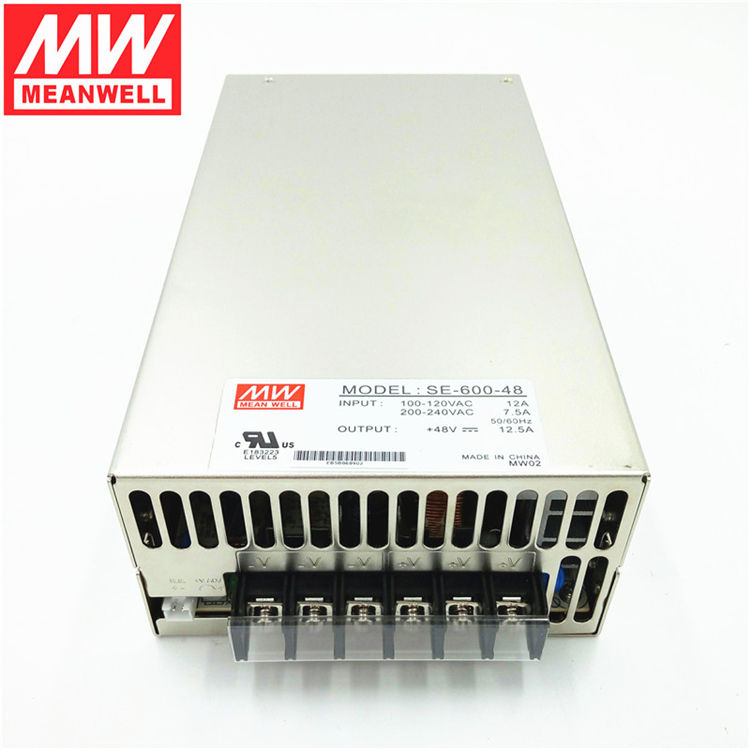 China supplier high-power switching power supply smps 600W 48V 12.5A Mean well SE-600-48