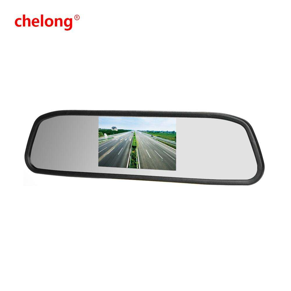 CL-432RV Car Monitor 4.3 inch Digital color TFT monitor Rearview mirror display Support 2 Video input