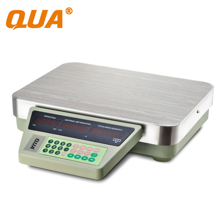 QUA 200kg weighing scale sitting and lying seafood scale