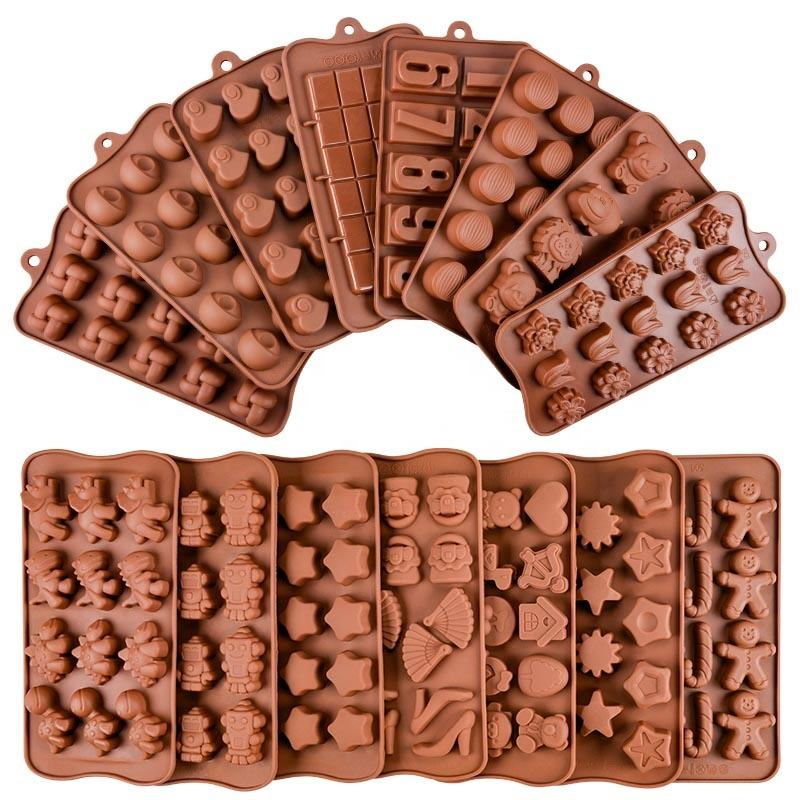 Amazon Hot Sale Rectangle Break-Apart Silicone Chocolate Mold