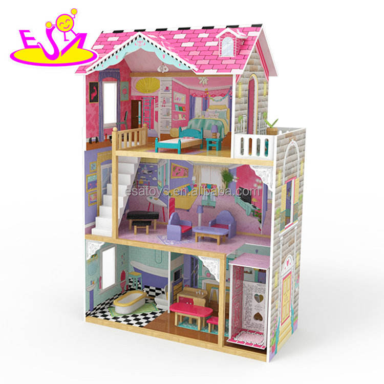 Original Design girls miniature wooden dollhouse supplies for 3 year old W06A220C