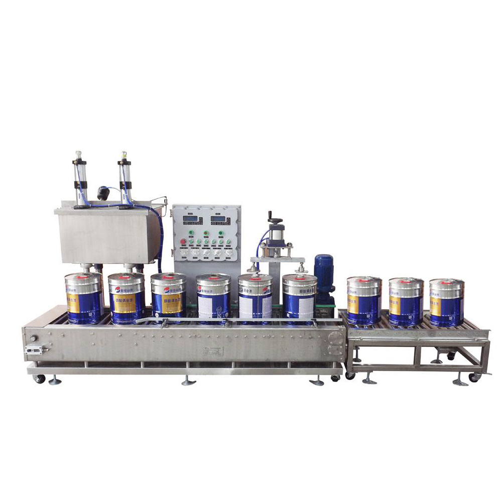 GCJ02-50-I/IIBH Weighing type automatic liquid filling machine for paint, paint filling machine