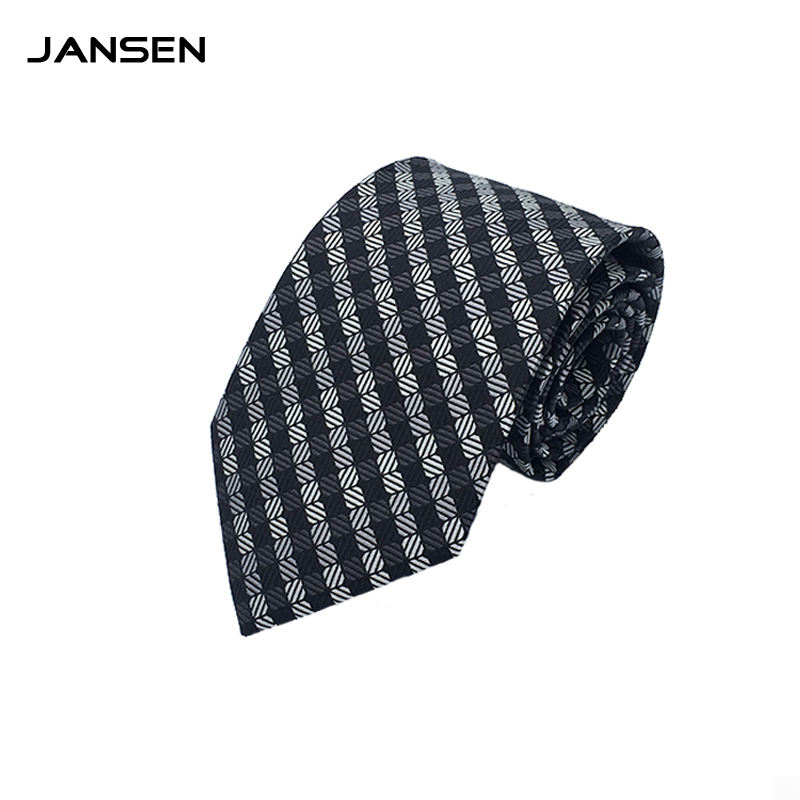 Custom Logo Woven Uniform Fashion Silk Business Men Neck Tie