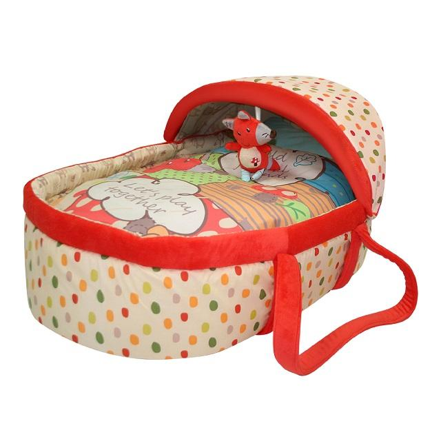 Fine Design Animal Cartoon Portable Travel Extendable Baby Moses Basket For New Born