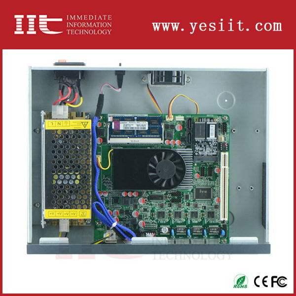 مصنع صيني oem إنتل اتوم d525 1u 4 جدار حماية الأجهزة للحصول على أمن الشبكات lan