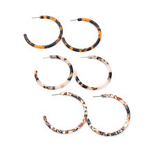 ed00188c Hot Sell Tortoiseshell Acetate Earrings Big Acrylic Circle Hoop Earrings For Women