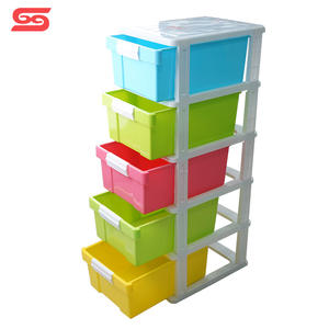 5 Tier clothes stackable cabinets storage baby plastic drawer from SHUNXING