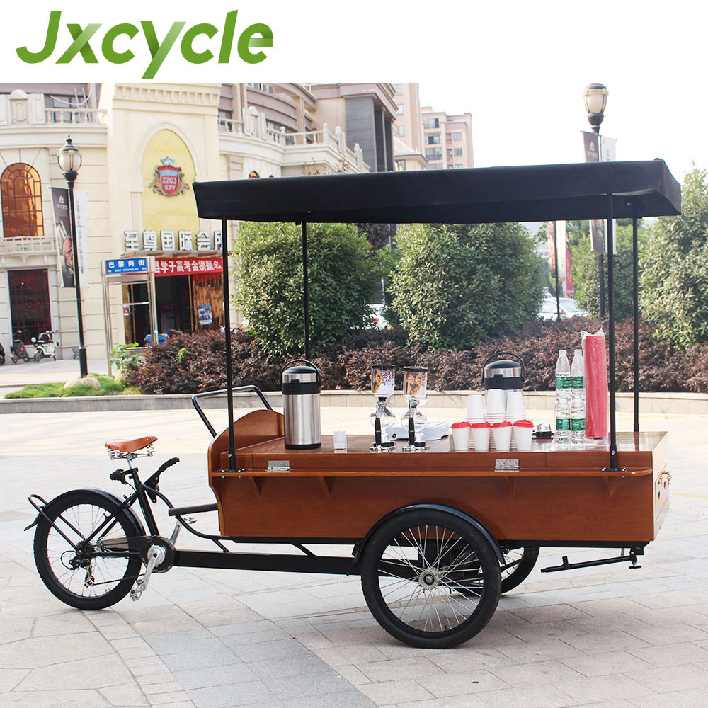 outdoor tricycle snack selling cart milk/ bread pop corn food truck