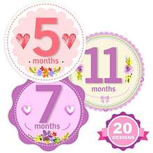 Mesmerico Baby Monthly Holiday Stickers - Baby Boy Girl's First Year Month Age Growth Milestones