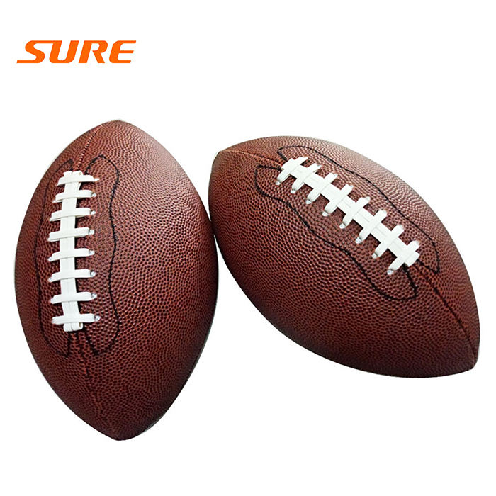 Custom logo leather super grip size F9 american football