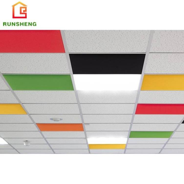 Colorful wholesale high quality acoustic ceiling tiles prices ,polyester fiber board