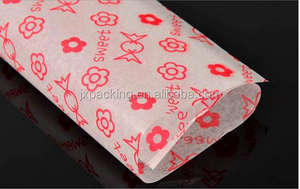 custom food grade waxed paper edible paper food wrapping paper