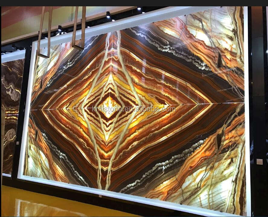 Book Match Translucent Onyx For Wall Floor Tile