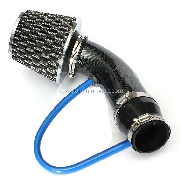 Universal Car Cold Air Intake Filter Aluminum Induction Kit Pipe Hose System New