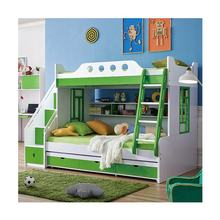Kids Bedroom Furniture Wooden Bunk Bed with Desk and Stairs Cabinet from Foshan  High-end Children Bed