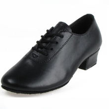 Men Black Genuine Leather Party Dance Shoes