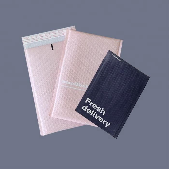 Customized printed colored poly bubble mailers shipping poly package satchels