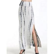 OEM Clothing Low MOQ Ladies Fashion Sexy Split Tie Dye Long Skirt