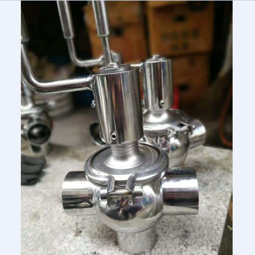 Sanitary Stainless Steel Clamp Manual Welded Divert Seat Reversing Valve