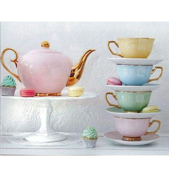 11pcs perfect for wedding gifts royal tea set with golden spout and handles
