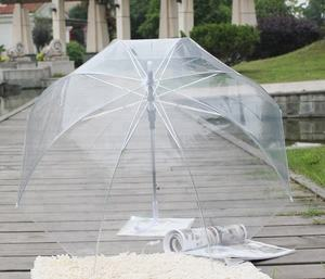 Auto Open Cheapest parapluie Transparent PVC Clear Umbrella