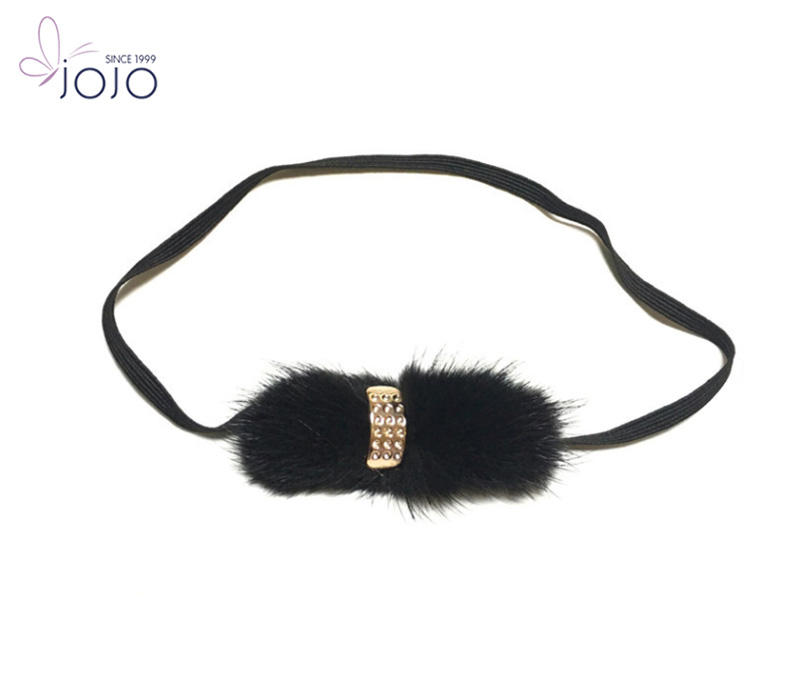 Diamond Mink Fur Headband Baby Hair Accessories Wholesale China
