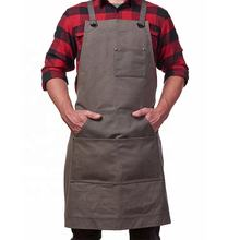 Artist Cool Men Designer Barber Barbershop Grilling Man Barbecue Carpenter Work Waxed Canvas Tool Apron