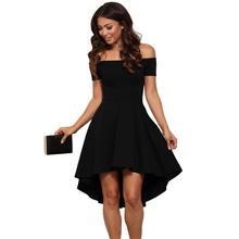 2019 Summer new arrival off shoulder western style short sleeve slim fit sexy women big hip short front back long banquet dress