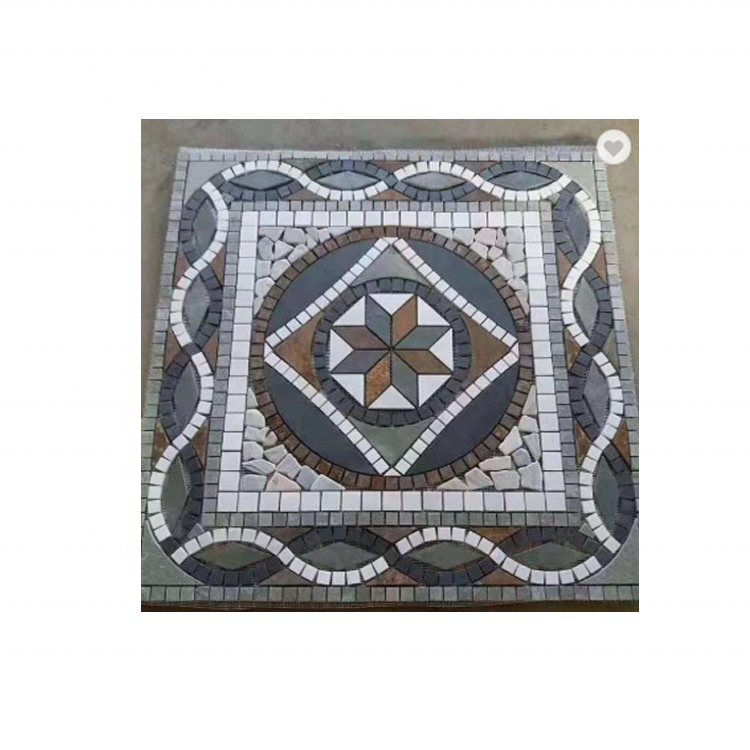 Slate Mosaic Pattern Decorative Natural Garden Round Paving Stone