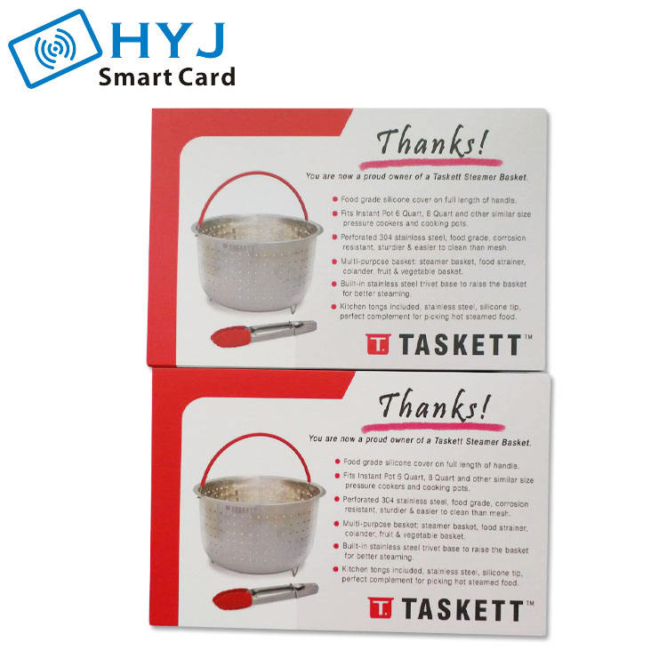Custom Product Paper Thank You Card Insert Card Printing