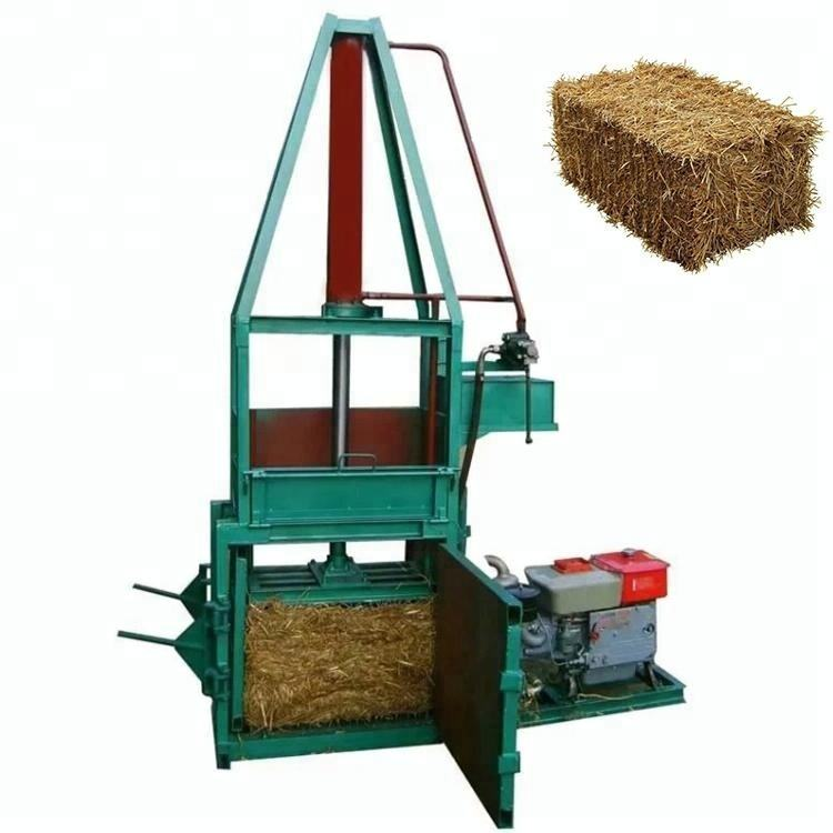 Hot sale hydraulic coconut palm fiber baler pine straw baling machine