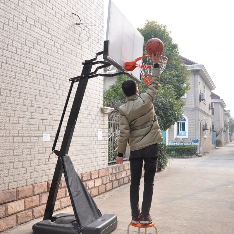 wholesale hydraulic adjustable movable outdoor self standing adult basketball hoops stand for sale