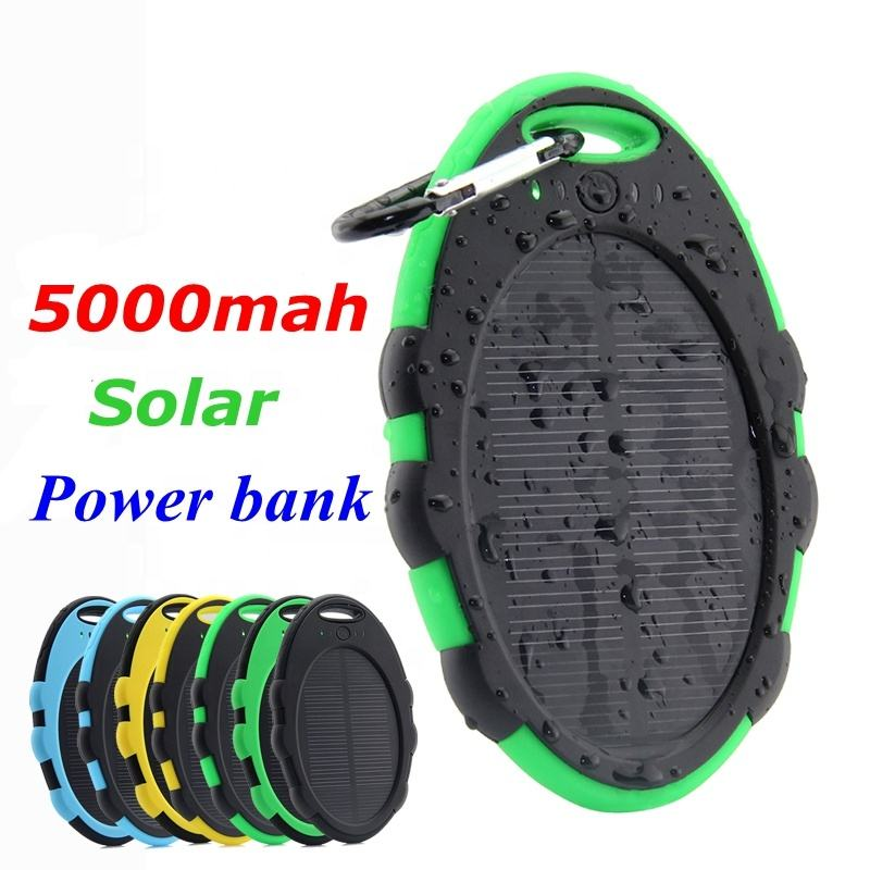 Portable mini Solar mobile phone Charger 5000mah battery Power Bank for iphone