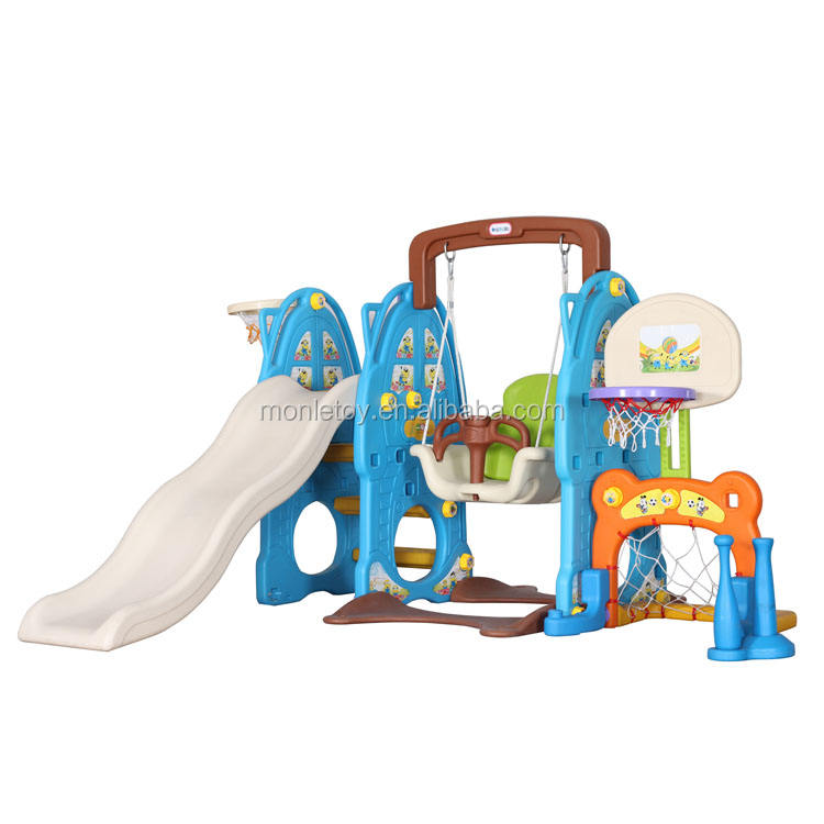 Playground combination toy safe swing basketball football kids slide indoor