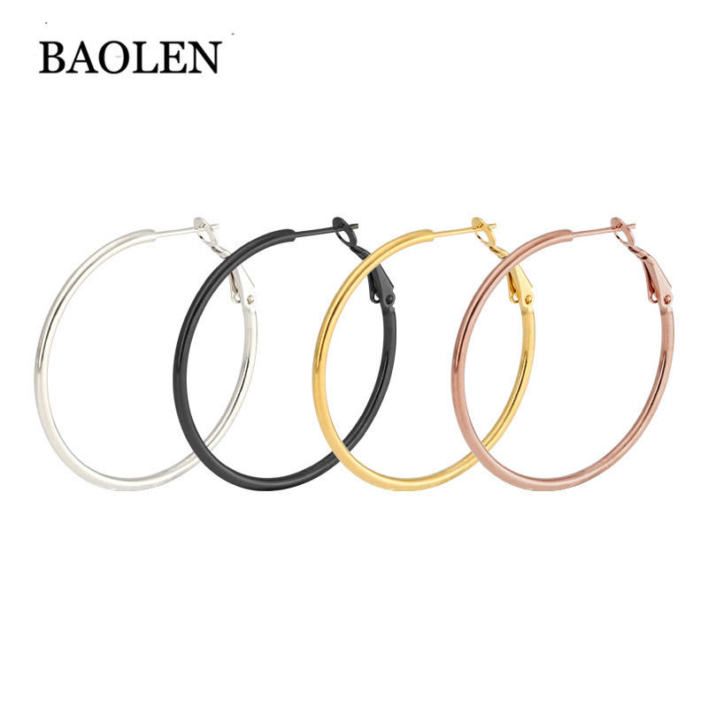 Fashion 1Pair A Variety Of Styles Sexy Elasticity Oversize Big Circle Hoop Earrings Punk Earring For Women