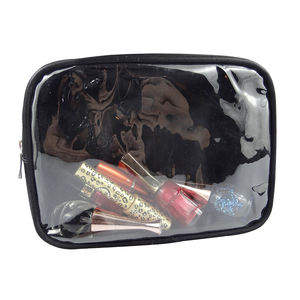 Modella waterproof custom bulk make up free clear pvc travel zipper cosmetic bag