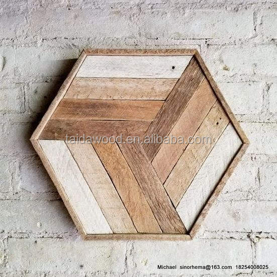 wood wall art decor DIY Chevron art on reclaimed wood