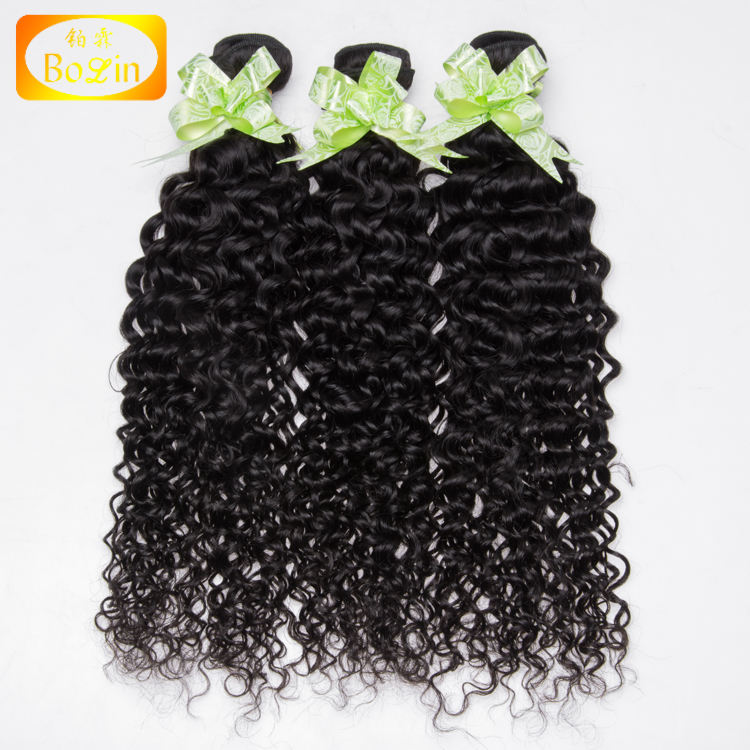 Free Shipping 9A Grade 3PCS One Set Raw 100% Virgin Unprocessed Deep Curly Hair Bundles