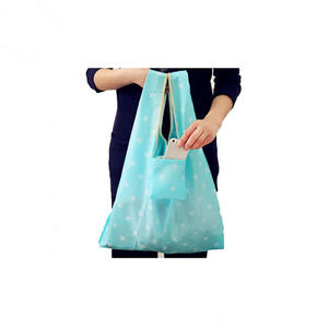 Reusable Folding Shopping Tote Bag Fits in Pocket Eco-Friendly shopping bag