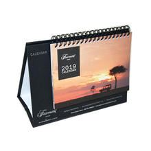 King Fu Beautiful High Quality Wire-o Bound and Sprial Bound Desk Calendar  Book Color Printing Factory with Box